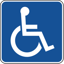 Disabled car parking sign